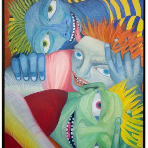 Niko Sopelario | Third eye Awakening 89 5 x 89 Oil on Linen